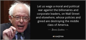 Bernie Sanderes Against Wall Street