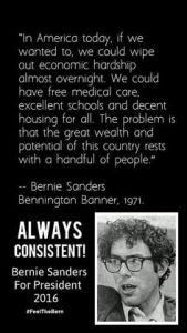 Bernie Sanders Consistency