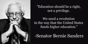 Bernie Sanders Tuition Free College