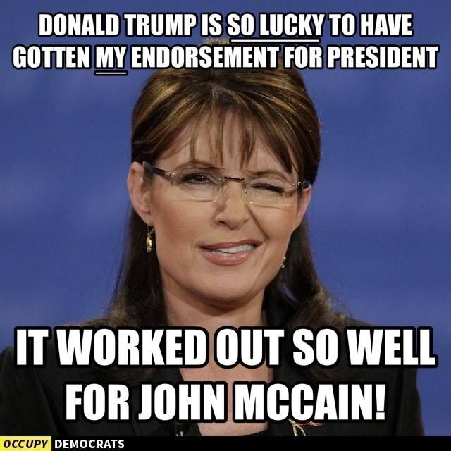 Sara Palin Endorses Donald Trump