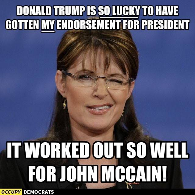 Sara Palin Endorses Donald Trump